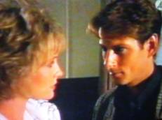 David Ratcliffe (Brett Climo) and Magda Heller (Melita Jurisic) in The Flying Doctors.